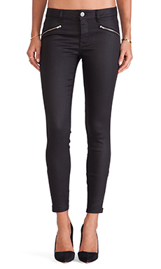 Level 99 Reiley Moto Skinny with Zippers in Black