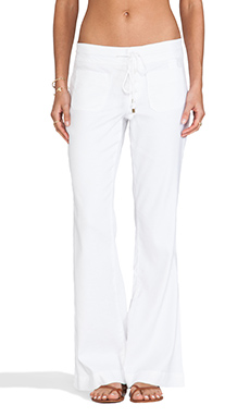 Level 99 Lana Lounge Pant in Optic White