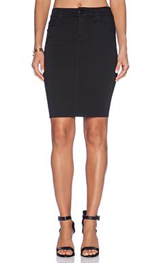 Level 99 Janice Pencil Skirt in Forever Black