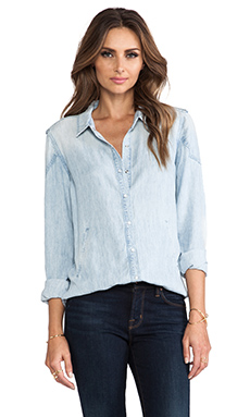 Level 99 Charlize Patch Shirt in Whiteout