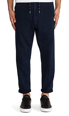 LEVI'S: Made & Crafted Drop Out Pant in Indigo Herringbone