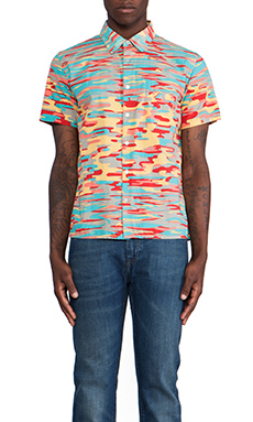 LEVI'S: Made & Crafted Hawaiian Shirt in Multi Waves