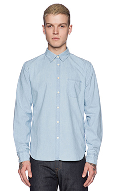 LEVI'S: Made & Crafted Pocket Shirt in Pale Blue Chambray