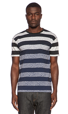 LEVI'S: Made & Crafted Classic Tee in Indigo Stripe