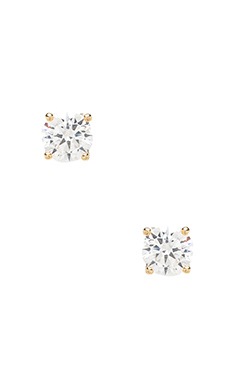 2CT ROUND CUT STUD EARRINGS