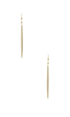 Lisa Freede Pave Icicle Earrings in Gold