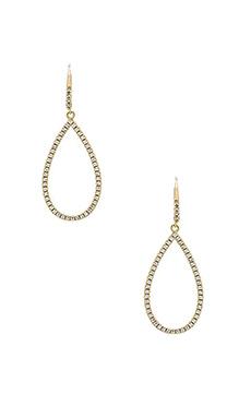 Lisa Freede Small Pave Open Teardrop Earrings in Gold