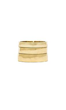 Lisa Freede Set of 3 Rings in Gold