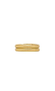 Lisa Freede Set of 2 Midi Rings in Gold
