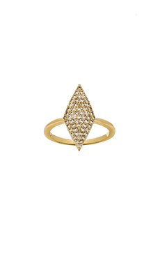 Lisa Freede Pave Diamond Shape Ring in Gold