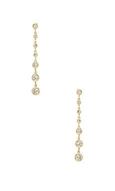 Lisa Freede Linear Drop Earrings in Gold