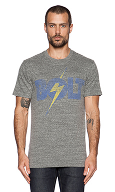Lightning Bolt Tee in Heather Grey