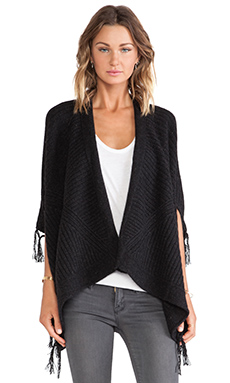 Linear B. Soprano Poncho Cardigan in Charcoal