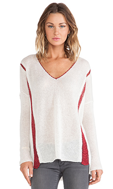 Linear B. Dubai Pullover with Crochet in Ivory