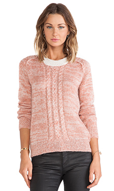 Linear B. Leila Cable Sweater in Tea Rose