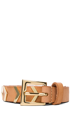 Linea Pelle Hip Belt with Chevron Studs in Natural