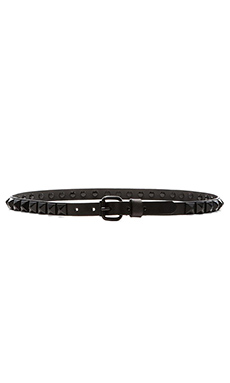 Linea Pelle Studded Hip Belt in Black & Black