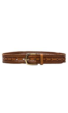 Linea Pelle Chevron Perforated Hip Belt in New Cognac