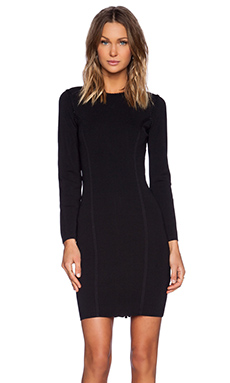Line Philomena Long Sleeve Dress in Caviar