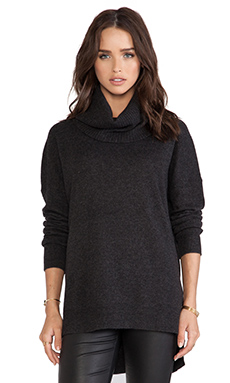 Line Slope Sweater in Charcoal