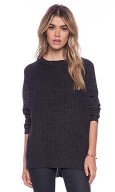 Line Nook Sweater in Charcoal