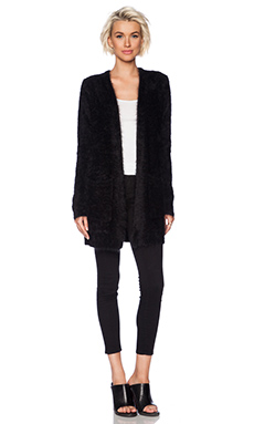 Line Sky Pocket Cardigan in Caviar