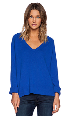 Line Chase V Neck Sweater in Sapphire
