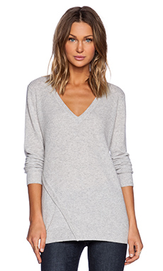Line Alexandra V Neck Sweater in Heather Grey