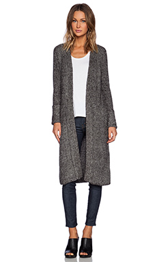 Line Elizabeth Long Cardigan in Stone Wash