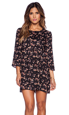 Lisakai Babydoll Dress in Floral Print
