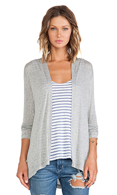 Lisa Kai Hooded Cardigan in Heather Grey