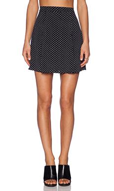 Lisakai Polka Dot Skirt in Black