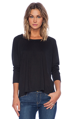 Lisa Kai Long Sleeve Tee in Black