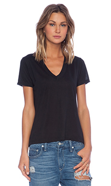 Lisa Kai Crew Tee in Black