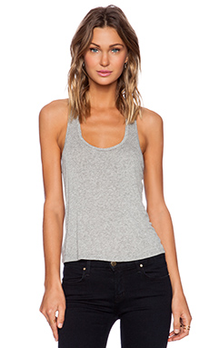 Lisa Kai Razorback Tank in Heather Grey