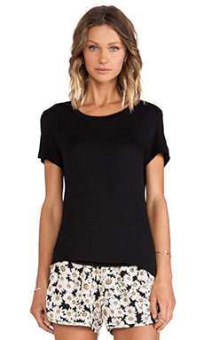 Lisa Kai Crew Neck Tee in Black