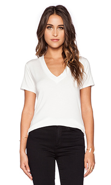 Lisakai V Neck Tee in White