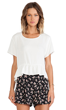 Lisakai Ruffle Tee in White