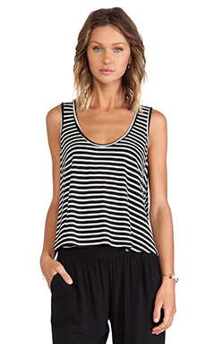 Lisa Kai Stripe Tank in Black & White