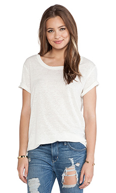 Lisa Kai Boyfriend Tee in White