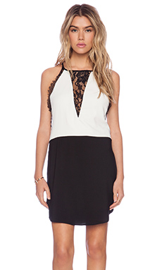 LIV Cara Shift Dress in Black & White