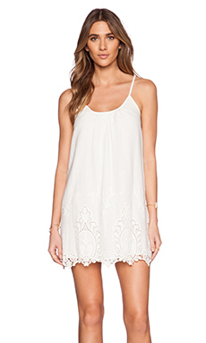 LIV Linda Scoop Neck Dress in Ivory
