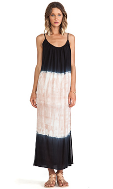 LIV Maxi Dress in Black & Nude