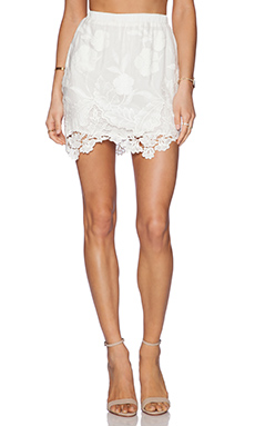 LIV Arie A Line Skirt in Ivory