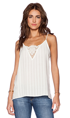 LIV Sarna Lace Inset Cami in Linen