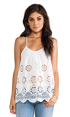 LIV Racer Back Cami Tank in White