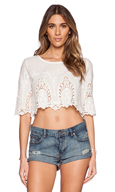 LIV Linda Crop Top in Ivory