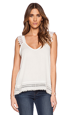 LIV Perry V Neck Cami in Ivory