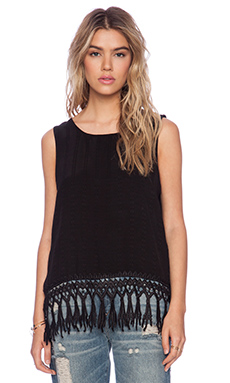 LIV Terra Fringe Tank in Black
