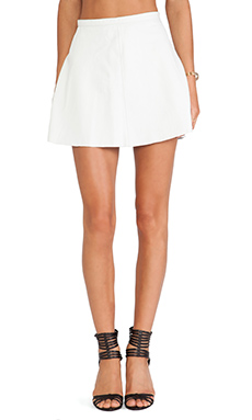 LOVE LEATHER The Legs Legs Legs Skirt in Chicklet White